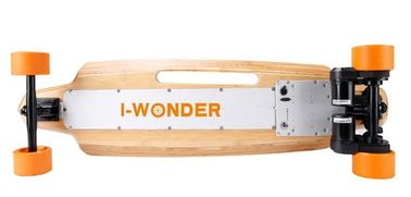 China Dual Motor Electric Skateboard 9 Layers Maple Deck Material With 83*52mm PU Wheel supplier