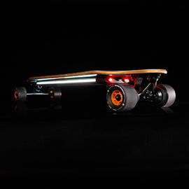 China Dual Hub Motor Portable Adult Electric Skateboard Hand Free With PU Wheel supplier